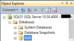 MSSQL Server Database List