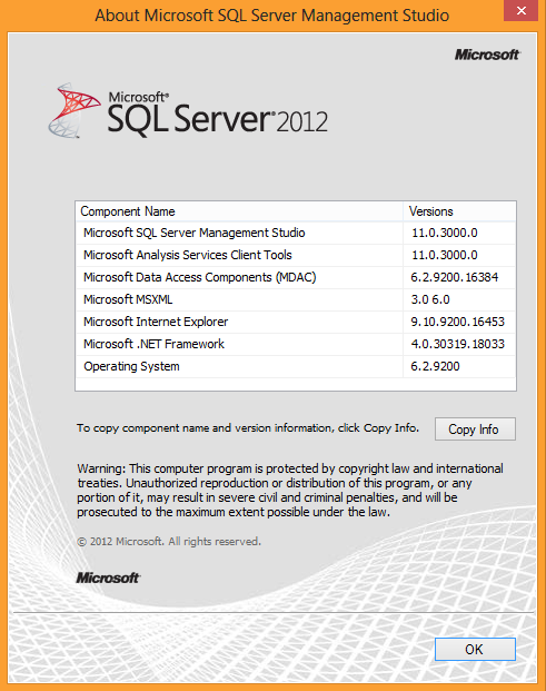 MSSQL Version